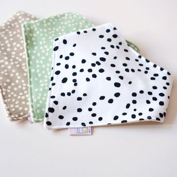 Cotton Patterned Dribble Bibs
