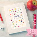 Personalised Pattern Thank You Teacher Notebook