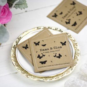 Personalised Butterfly Wild Flower Seed Packet Favours