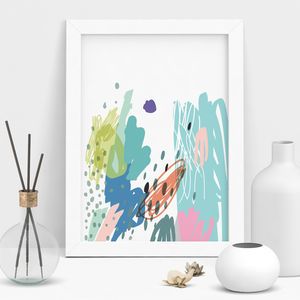 Spring Colour Abstract Art Print - modern & abstract
