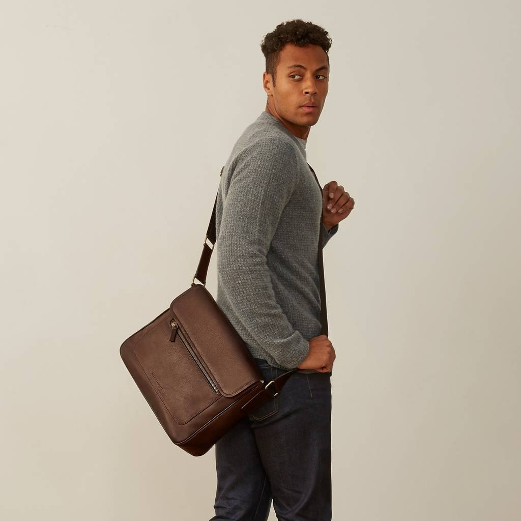 74640ce8da personalised leather laptop shoulder bag  livorno  by maxwell scott ...