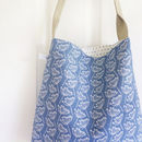 Floral Cow Parsley Day Bag - French Blue