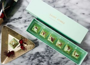 Saint Aymes Salt Pistachio Handmade Luxury Chocolates - indulgent chocolate edit