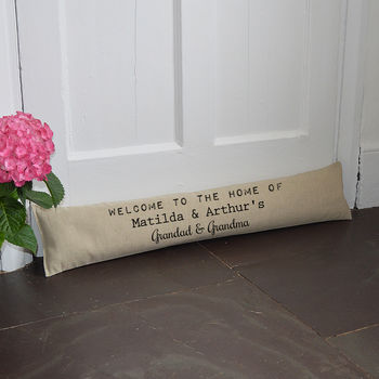 Personalised 'Welcome' Draught Excluder