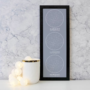 Personalised Large Romantic Multiple Star Map Print - maps & locations