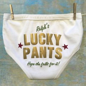 Valentines Personalised Lucky Pants For Men And Ladies - underwear & socks