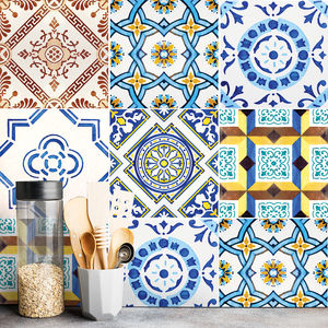Lisbon Mouraria Tile Stickers Set Pack Of 24