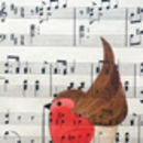 Romantic Robin On Music Original Painting