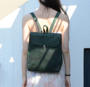 Minimalist Leather Backpack For Ladies