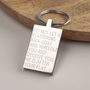 Personalised House Or Car Keyring