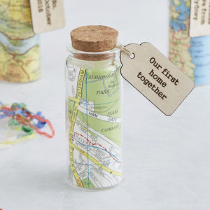Personalised Map In A Bottle Romantic Keepsake Gift - home accessories