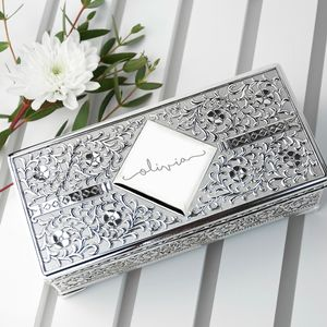 Personalised Silver Jewellery Box - boxes, trunks & crates