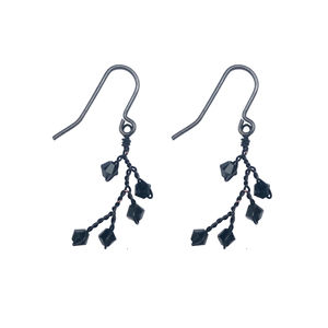 Black Dewdrop Earrings