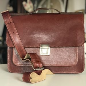 Light Brown Satchel Made In London