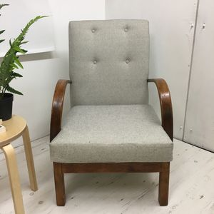 1940s Utility Armchair, Fully Refurbished
