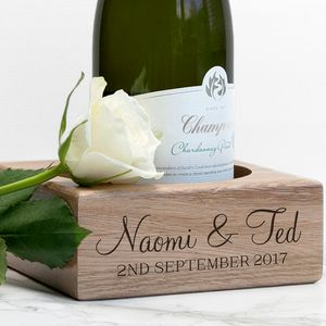 Personalised Oak Prosecco Holder - kitchen