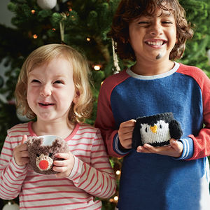 Personalised Children's Mini Mug And Cosy - christmas eve