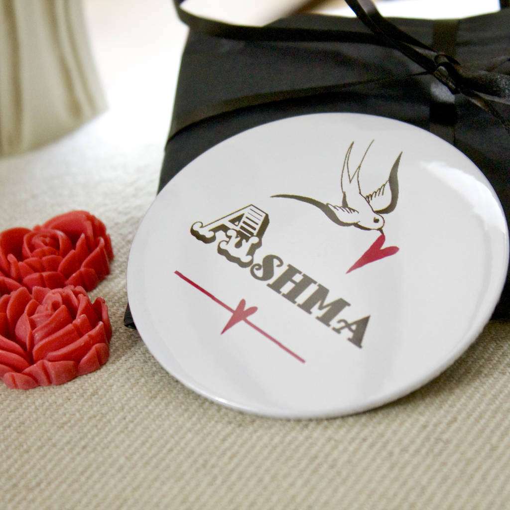 personalised pocket mirror favour sets by bedcrumb ...