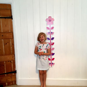 Extra Long Personalised Flower Height Chart