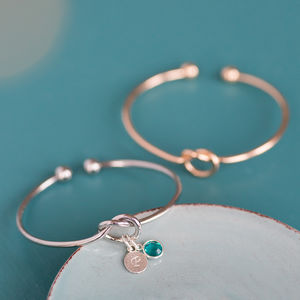 Friendship Knot Bangle - palentine's gifts