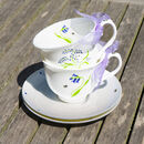 Bluebell Bone China Tea Cup And Saucer