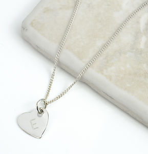 Personalised Initial Silver Heart Necklace - new in jewellery