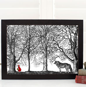 Little Red Riding Hood Fairytale A4 Print - baby & child sale