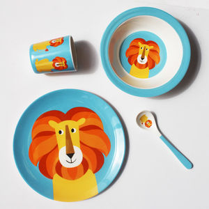 Lion Melamine Tableware - baby care : funky tableware - pezcame.com