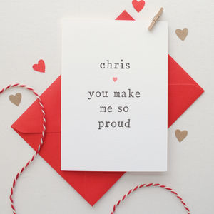 'You Make Me So Proud' Congratulations Card - graduation cards