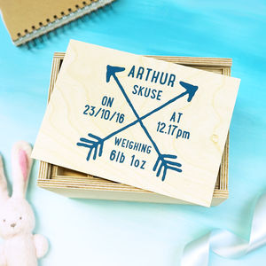 Personalised Arrow Baby Keepsake Box