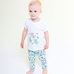 Colourful Cacti Print Matching Boys Set - clothing