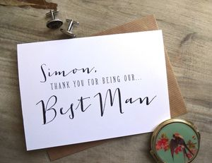 Thank You For Being Our Best Man | Usher | Other Card - wedding thank you gifts