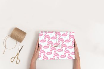 Personalised New Baby Swan Wrapping Paper