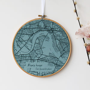 Velvet Map Personalised Wall Art - home accessories