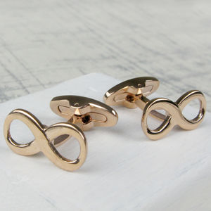 Classic Infinity Cufflinks In Rose Gold - men's accessories