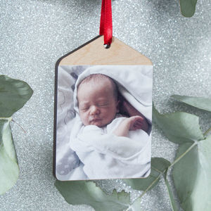 Personalised Photo Baby's First Christmas Bauble
