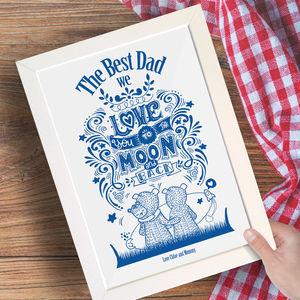 Personalised Fathers Day Family Print