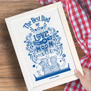 Personalised Fathers Day Print for Dad