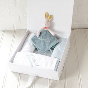 Personalised Embroidered Gift Set For Baby Boy - bathroom
