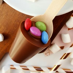 Rainbow Hot Chocolate Spoon Gift
