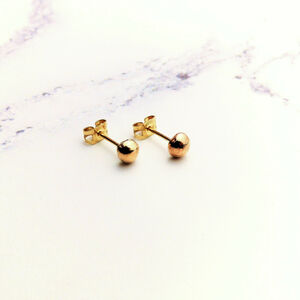 Recycled Yellow Gold Pebble Stud Earrings