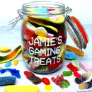 Personalised 'Gaming Treats' Sweet Jar