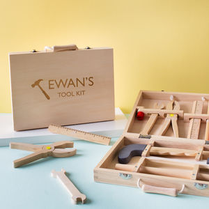Personalised Wooden Tool Kit Toy - gifts for babies & children