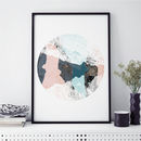 Abstract Art Print Wood Valley No. Three