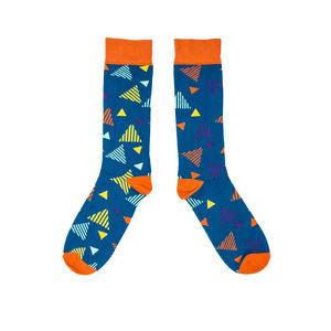 Colourful Triangle Pattern Socks