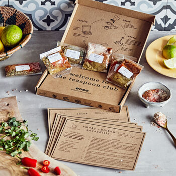 Authentic Mexican Spice Kit And Recipes Gift Box