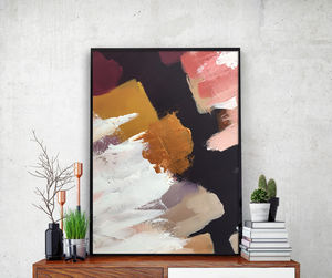 Modern Bold Abstract Art Print Gold Modern Framed Art   Update Your Walls