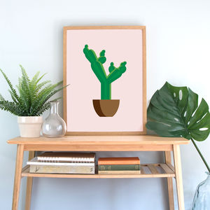 Tropical Cactus Art Print, Prickly Pear