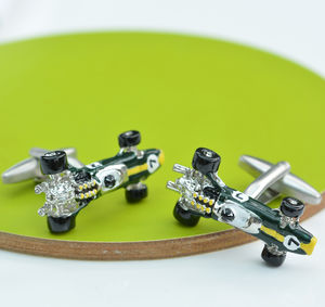 Lotus Type 49 Racing Car Cufflinks - men's accessories