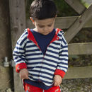 Red Reversible Baby And Child's Airplane Jacket